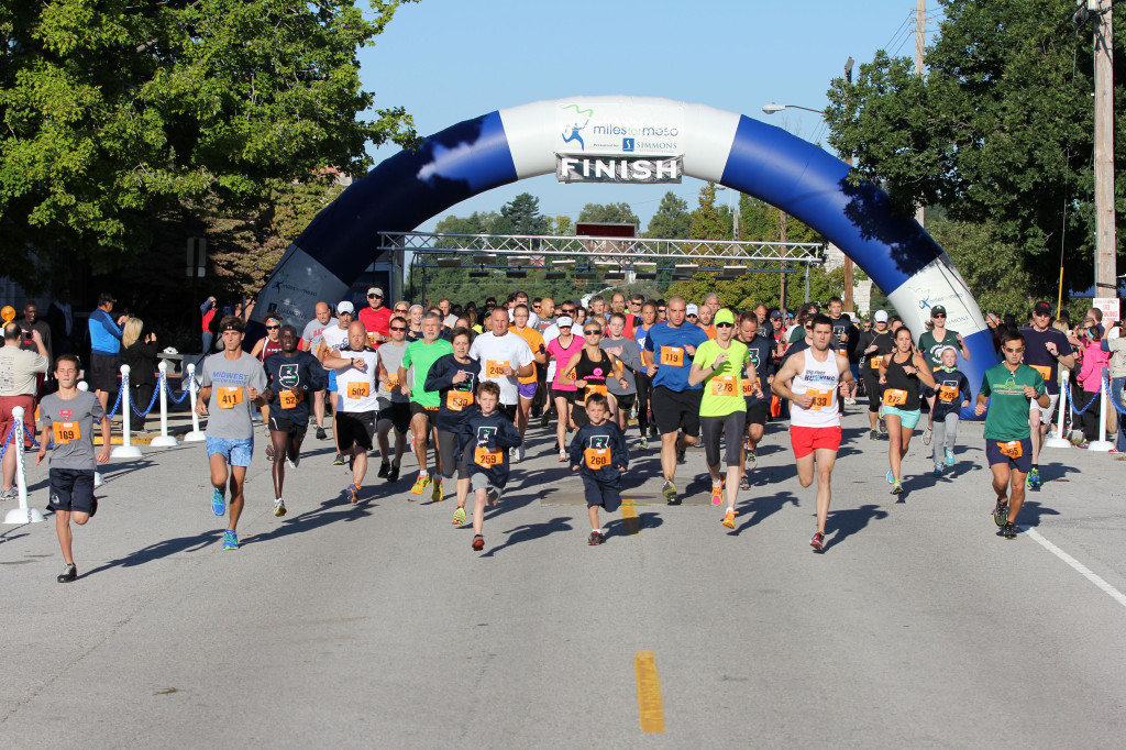More than 800 people participated in the 2013 Miles for Meso 5K Race & 2K Fun Run/Walk.
